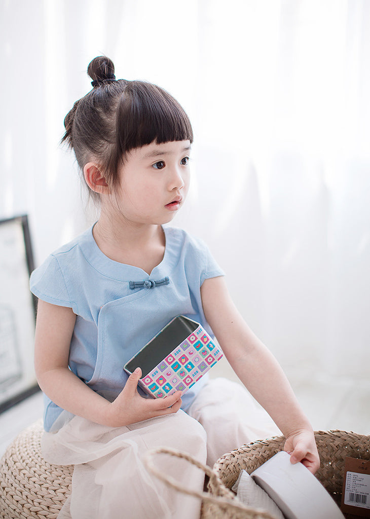 1-6Y Girls Cheongsam Top A200C21F (Mother Sizes Available)