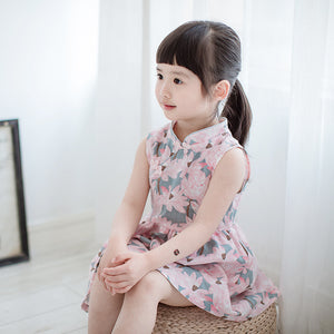 2-8Y Girls Cheongsam Flare Dress A200C11L
