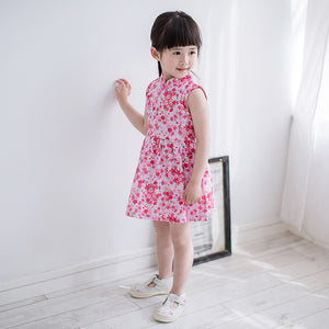 1-6Y Girls Cheongsam Flare Dress A200C11K