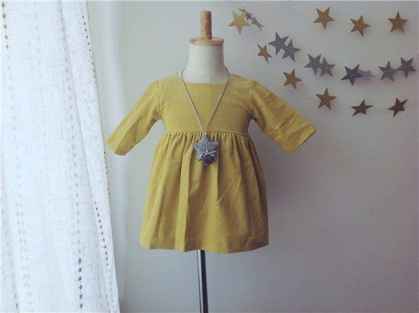 1-6Y Girls Yellow Dress A20126K