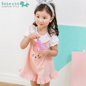 2-4Y Bebezoo Girls Kitty Jumpsuit K2016F