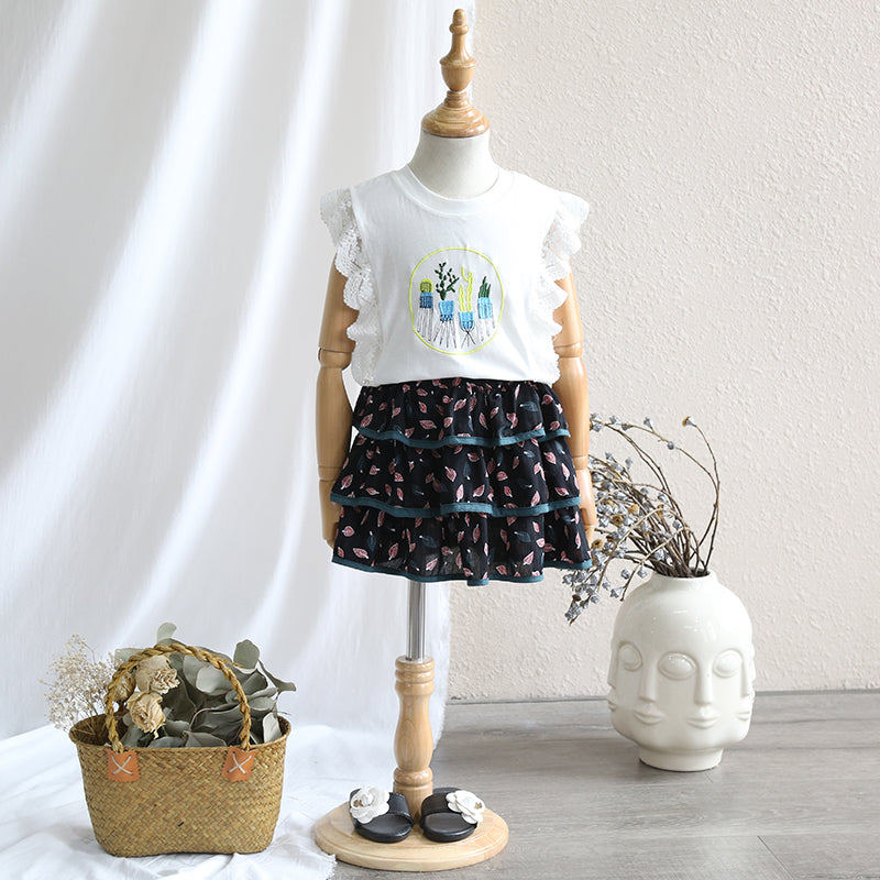 2-8Y Kids Layer Skirt A20411L