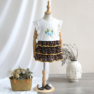 2-8Y Kids Layer Skirt A20411M