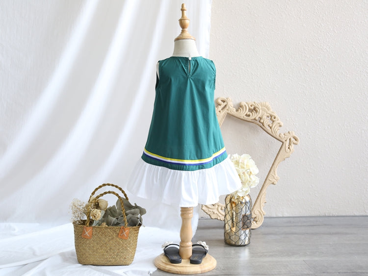 2-8Y Kids Frill Hem Dress G20123J