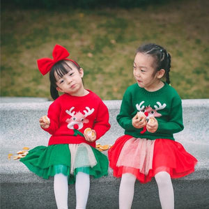 2-7Y Girls Christmas Red Tutu Skirt A2042H