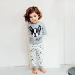 1-6Y Kids Pyjamas 2pcs Set by Korea MILKIDS A4042N