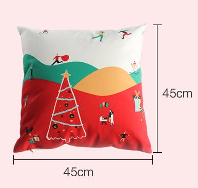 Flannel Double Sided Printed Christmas Cushion Covers X657