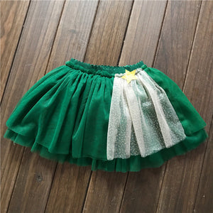 2-7Y Girls Christmas Green Tutu Skirt A2042I