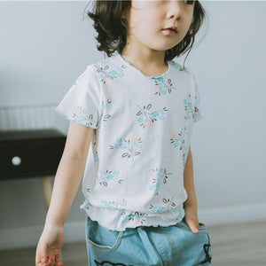 2-8Y Girls Floral Shirt A20211L