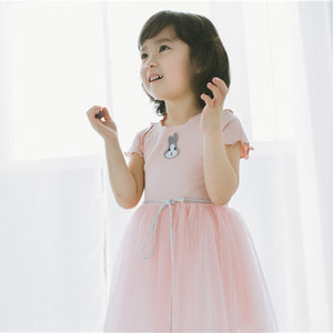 1-6Y Girls Pink Bunny Tulle Dress A20124B