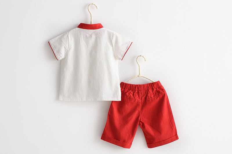 2-6Y Boys Kungfu Top and Bottom 2pcs Set A100C41C