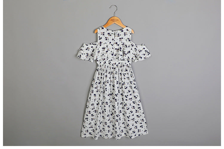 3-12Y Girls Off-Shoulder Summer Dress G2102F (Mother sizes available)