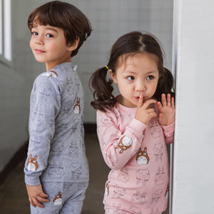 1-6Y Kids Pyjamas 2pcs Set by Korea MILKIDS A4042I