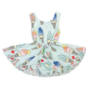 Ice-Cream Twirl Romper Dress A20128H