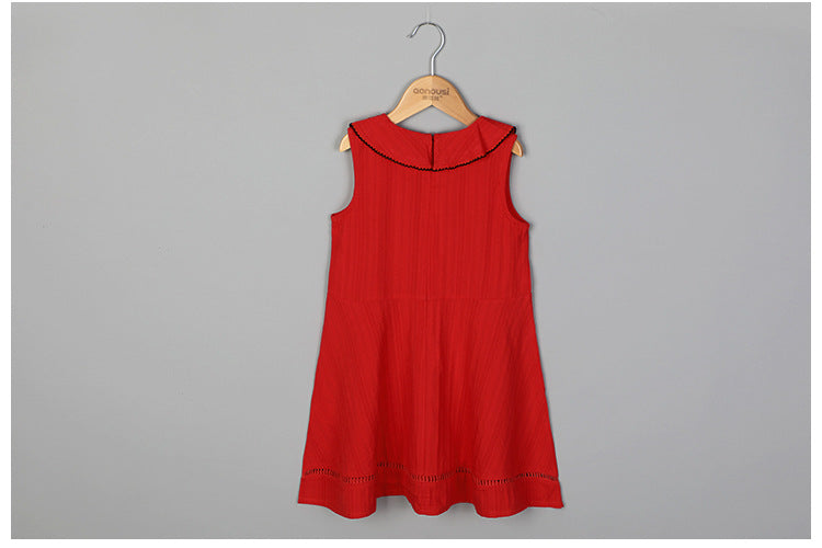 3-12Y Girls Red Summer Dress G2102G (Mother sizes available)