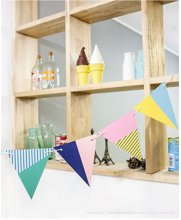 Party Garland Set Colourful Flags Set A7043I