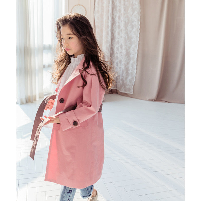 4-15Y Girls Pink Coat G21044E (Mother sizes available)