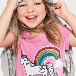 2-7Y Girls Jumping Beans Short-sleeve Shirts A2311A