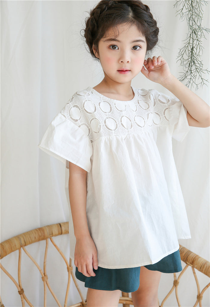 3-15Y Girls White Blouse G21033H (Mother sizes available)