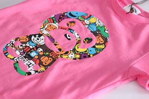 1-7Y Kids Bape Shirt A20214F