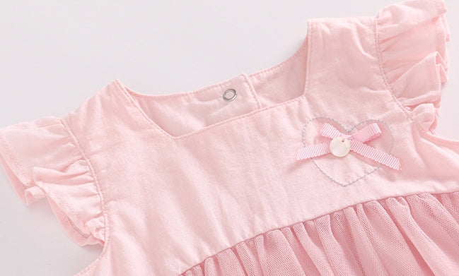 0-3Y Baby Embroidery Tulle Dress A40611C