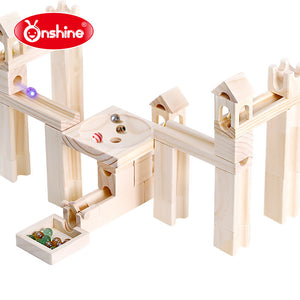 Onshine 45pcs/80pcs Wood Marbles Building Construction Set OS101C/OS101A