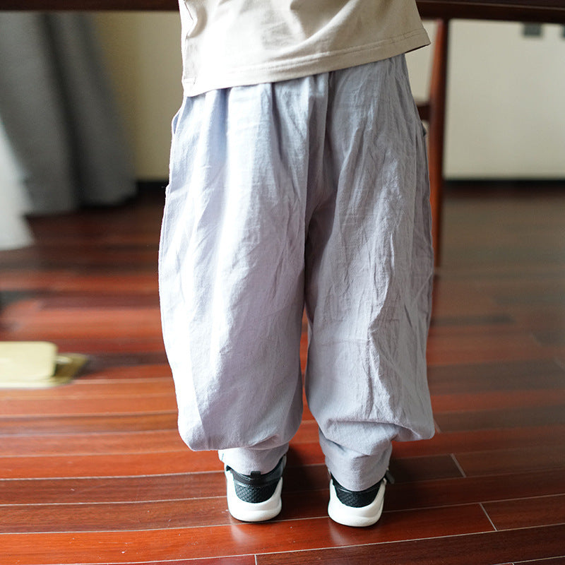 2-8Y Kids Kungfu Pants A100C31B