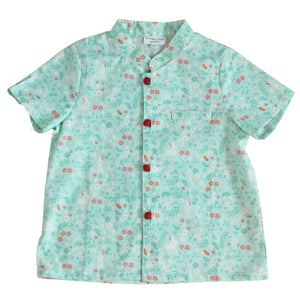 Boys Mandarin Collar Shirt by Korea Chungage fabric A100CEE014E