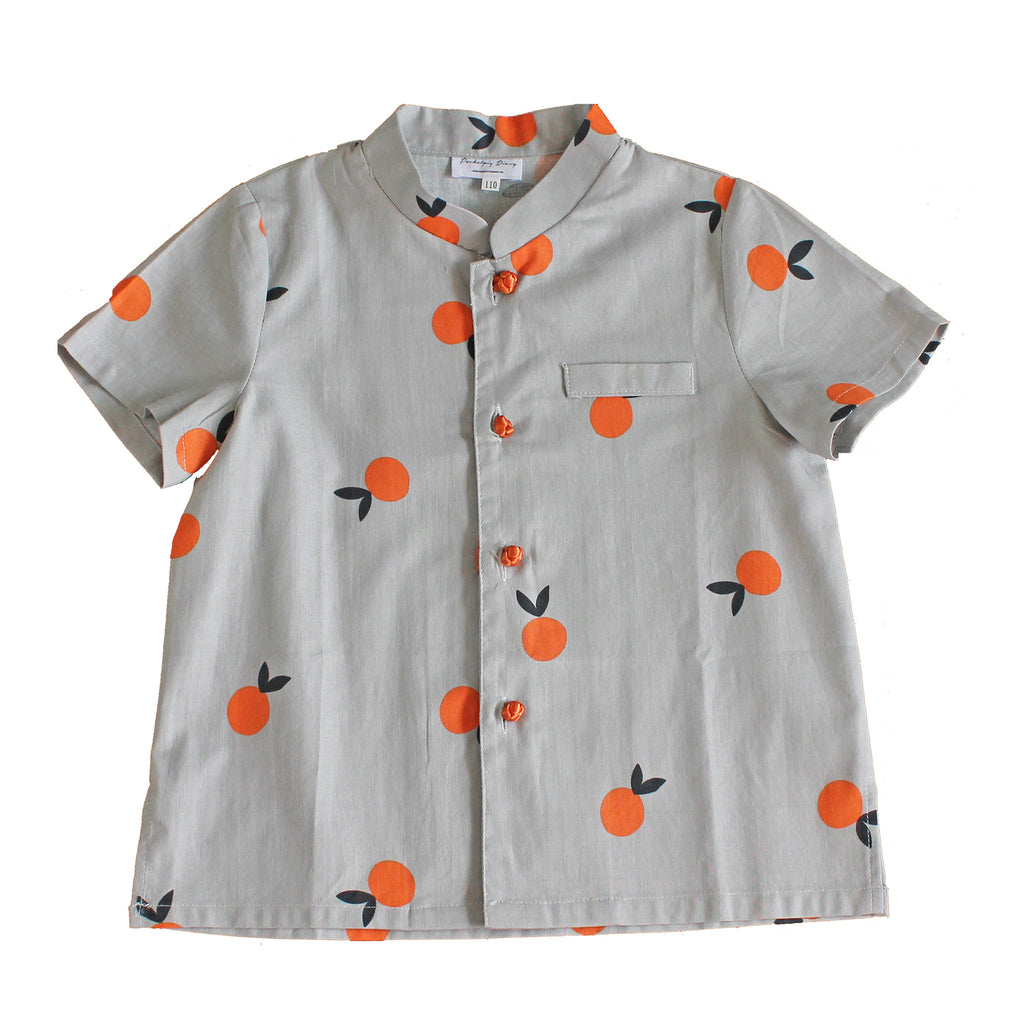 Boys Mandarin Collar Shirt by Korea Chungage fabric A100CEE014G