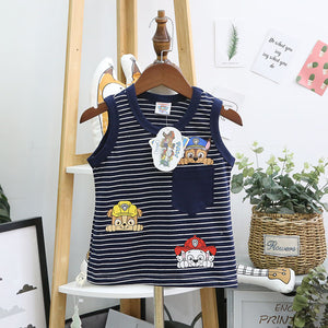1-7Y Kids Sleeveless Shirt A10412I