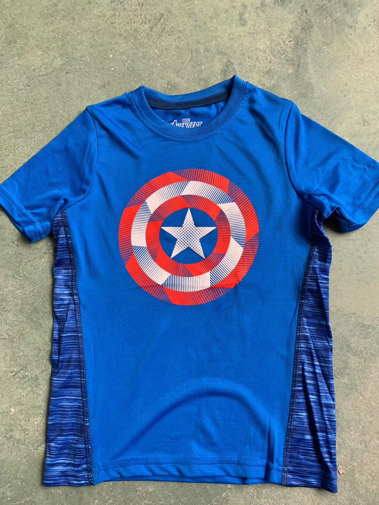 4-7Y Boys Short Sleeve Athletic Shirt A10428K