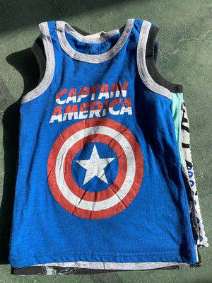 Captain America Superhero Sleeveless Shirt A10433C