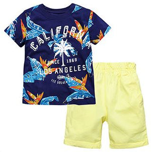 1-6Y Boys Summer Shirts and Bottom 2pcs Set