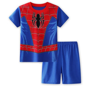 Boys Spiderman Top and Bottom 2pcs Set A1061F