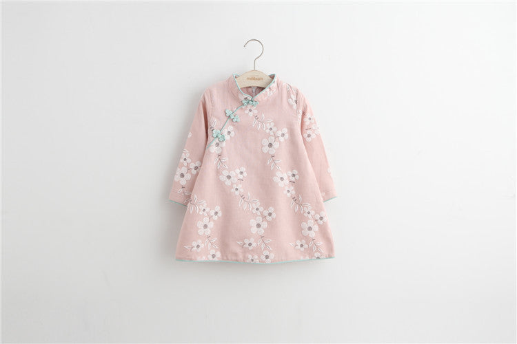 2-8Y Girls Cheongsam Dress Kids Cheongsams A200C19K