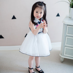 1-8Y Girls Cheongsam Tulle Dress A200C11D