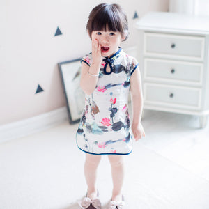 2-8Y Girls Chiffon Cheongsam Dress A200C11J