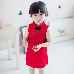 2-8Y Girls Lace Cheongsam Dress A200C12A