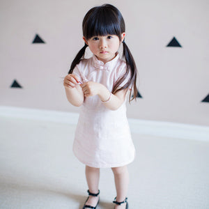 2-8Y Girls Pink Cheongsam Dress A200C12D