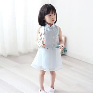 2-8Y Girls Cheongsam Dress with Lining A200C13E