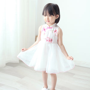 2-8Y Girls Cheongsam Tulle Dress with Lining A200C13H