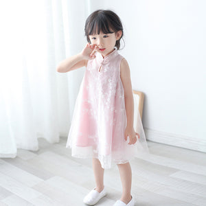 2-8Y Girls Cheongsam Dress with Lining A200C13J