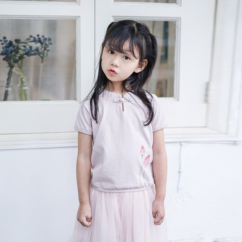 1-6Y Girls Cheongsam Top A200C21D (Mother Sizes Available)