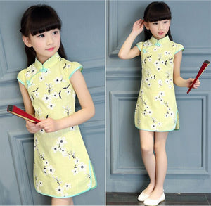 2-10Y Girls Cheongsam Dress A200C19D