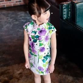3-7Y Girls Cheongsam Dress Kids Cheongsams A200C2G