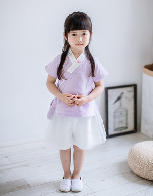 2-8Y Girls Chiffon Double Layers Chinese Shorts A200C31K