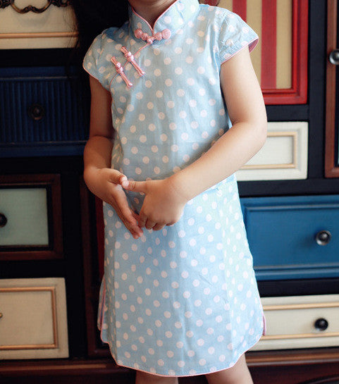 1-7Y Girls Cheongsam Dress Kids Cheongsams A200C3E