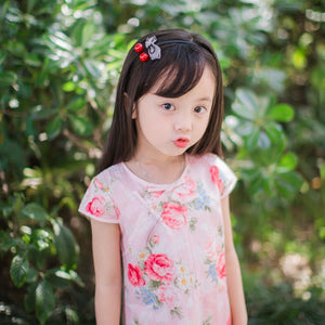 2-10Y Pink Floral Cheongsam Dress A200C62H
