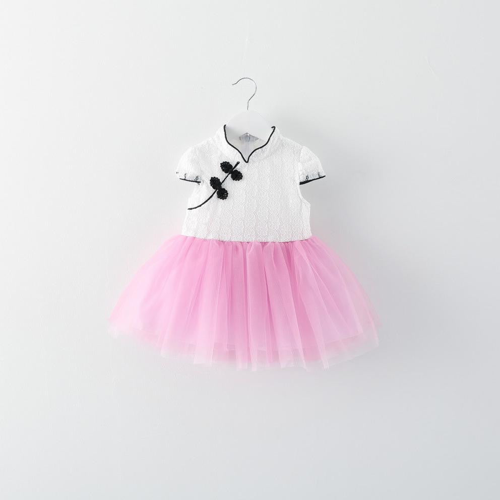 3-6Y Girls Cheongsam Tutu Dress Kids Cheongsams Tutu Dress A200CA