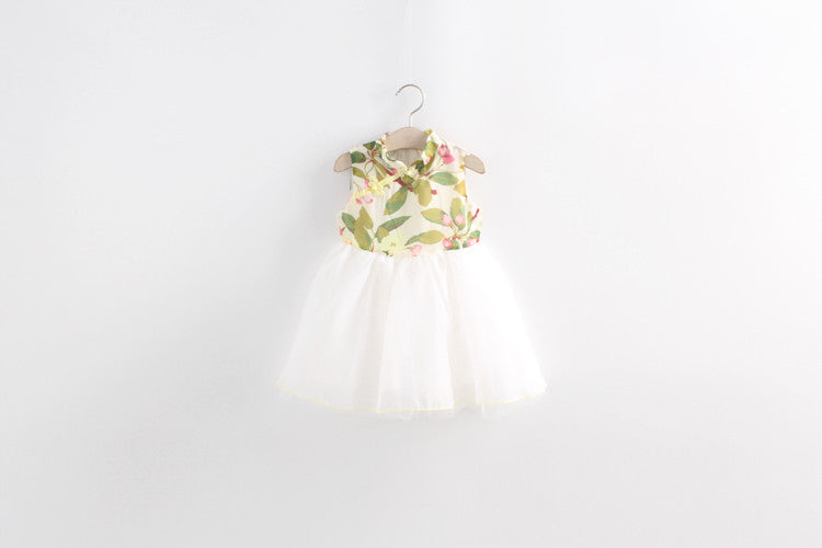 2-8Y Girls Cheongsam Tulle Dress A200C11B